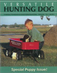 Jim Julson with Kleine / Small munsterlander hunting dogs